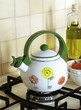Teapot on the gas stove