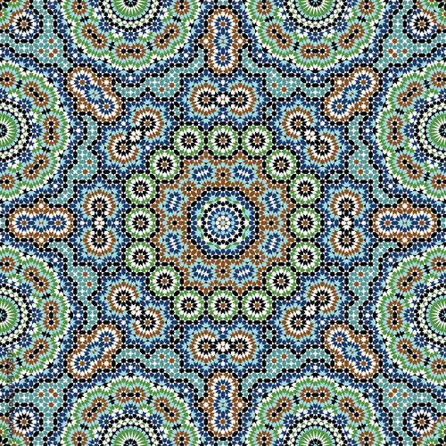 Tetuan Moorish Seamless Pattern Two