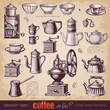Coffee or tea? - set of vintage design elements