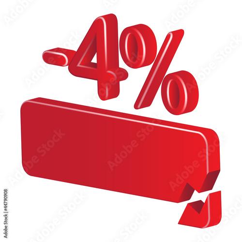 minus 4 percent