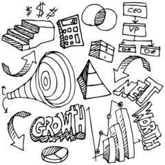 Business Chart Drawing Set