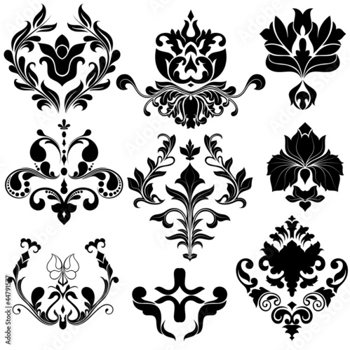 Vintage Damask Vector Elements
