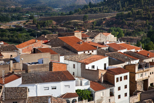 Cofrentes, typical small village in Spain.