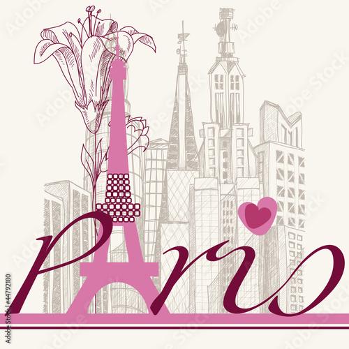 architektura-miejska-kart-paryza-i-lilia