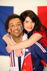 Couple of French supporters