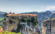 View of the historic Varlaam monastery, Meteora, Greece
