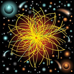 Bosone God Particle on Universe-Bosone nello Spazio Universo