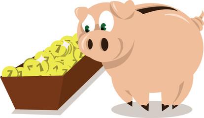 Mr. Pig's dinner