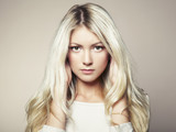 Fototapety Photo of beautiful woman with magnificent hair