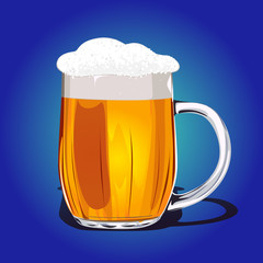 Mug fresh beer vector illustration