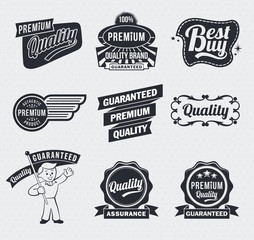 Retro vintage premium quality labels