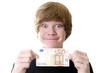 Teenager mit 50 Euro Schein