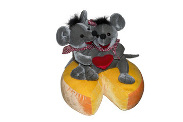 mices on cheese