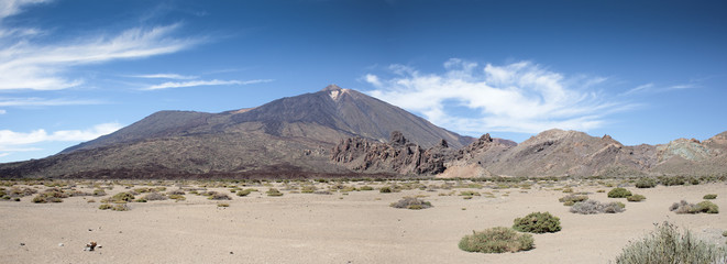 Panoramic view of the Teide