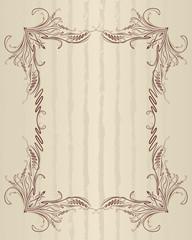 Elegant vintage frame