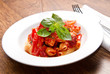 pasta with tomatoes and basil