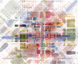abstract colorfull retro concept idea background