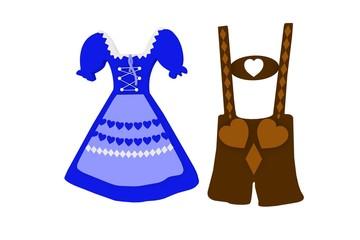 Oktoberfest Dirndl und Lederhose