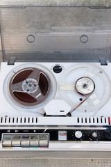 jammed Old tape reel