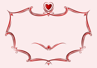 Frame with heart.