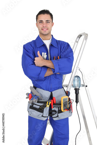 craftsman with all his equipment