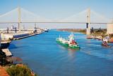 Ship entering port of Savannah - 44800522