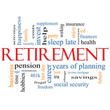 Retirement Word Cloud Concept
