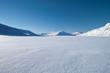 canvas print picture - Kungsleden - Winterlandscape