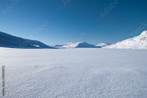 canvas print picture Kungsleden - Winterlandscape