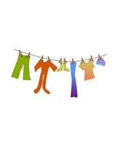kinderwäsche auf der leine