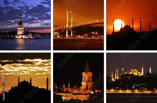 Istanbul's Evenings- Golden Hours Collage