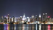 time lapse and loopable view of Manhattan skyline at night