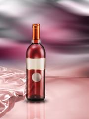 bottiglia di vino ambientata