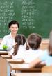 Teacher questions pupils at math