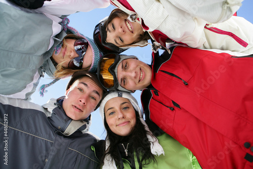 Group of teenagers in a circle