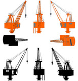 Shipyard Crane Without Stand Vector 05