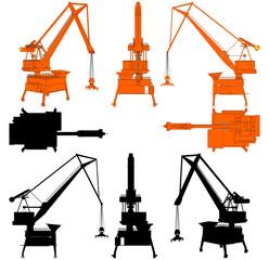 Shipyard Crane Vector 07