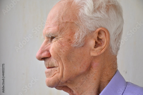 Senior man looking away