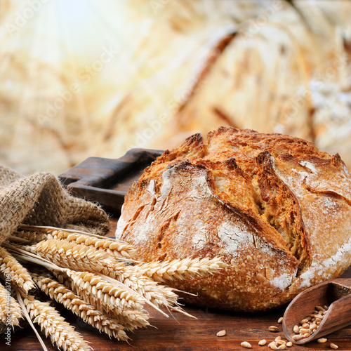 Fotobehang Bakkerij Freshly baked traditional bread