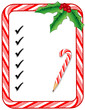 Christmas To Do List, notice board, candy cane frame, pencil