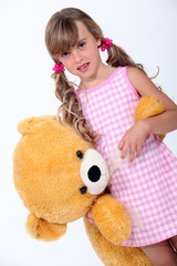 Girl with a stuffed toy