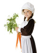 Pilgrim Girl with Carrots