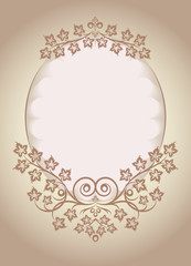 Decorative oval frame