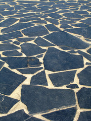 Beautiful black slate floor
