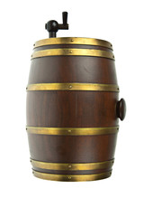 Beer barrel isolated on white background