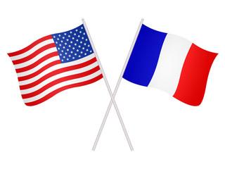 Drapeaux de l'alliance franco-américaine