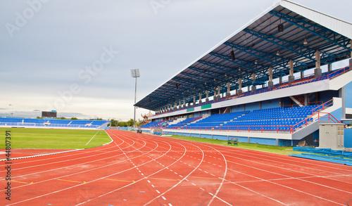 Stadium main stand and runing track