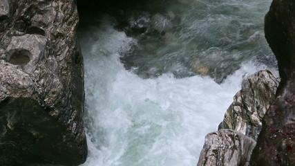 Liechtensteinklamm gorge with stream and waterfalls in Austria.