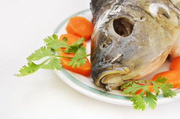 head of fish as jewish new year symbol