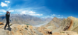 Panorama of India Himalayas mountains